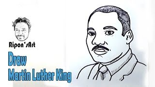 How to Draw Martin Luther King easy    Ripon