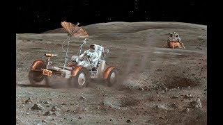 "Apollo 16 Lunar Rover ""Grand Prix"" [RESTORED][STABILIZED][60fps]"