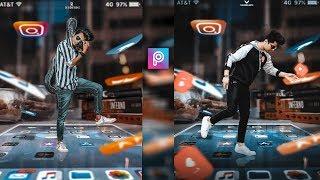 PicsArt 3D Instagram Viral Mobile Photo Editing Tutorial in picsart Step by Step in Hindi-Viral edit
