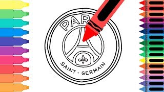 How to Draw Paris Saint-Germain Badge - Draw the PSG Logo - Coloring Pages for kids | Tanimated Toys