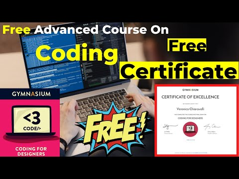 Free Professional Advanced Course On Coding With Free Certificate | Coding For Designers