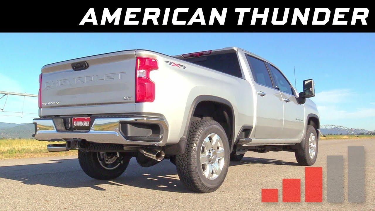 2020 gm silverado sierra 2500hd 3500hd 6 6l american thunder cat back exhaust 817933
