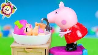PEPPA PIG: La BÉBÉ PINYPON VEUT TOUT FAIRE TOUTE SEULE ET PAR CONTRE PAULA VEUT TOUJOURS DE L´AIDE!