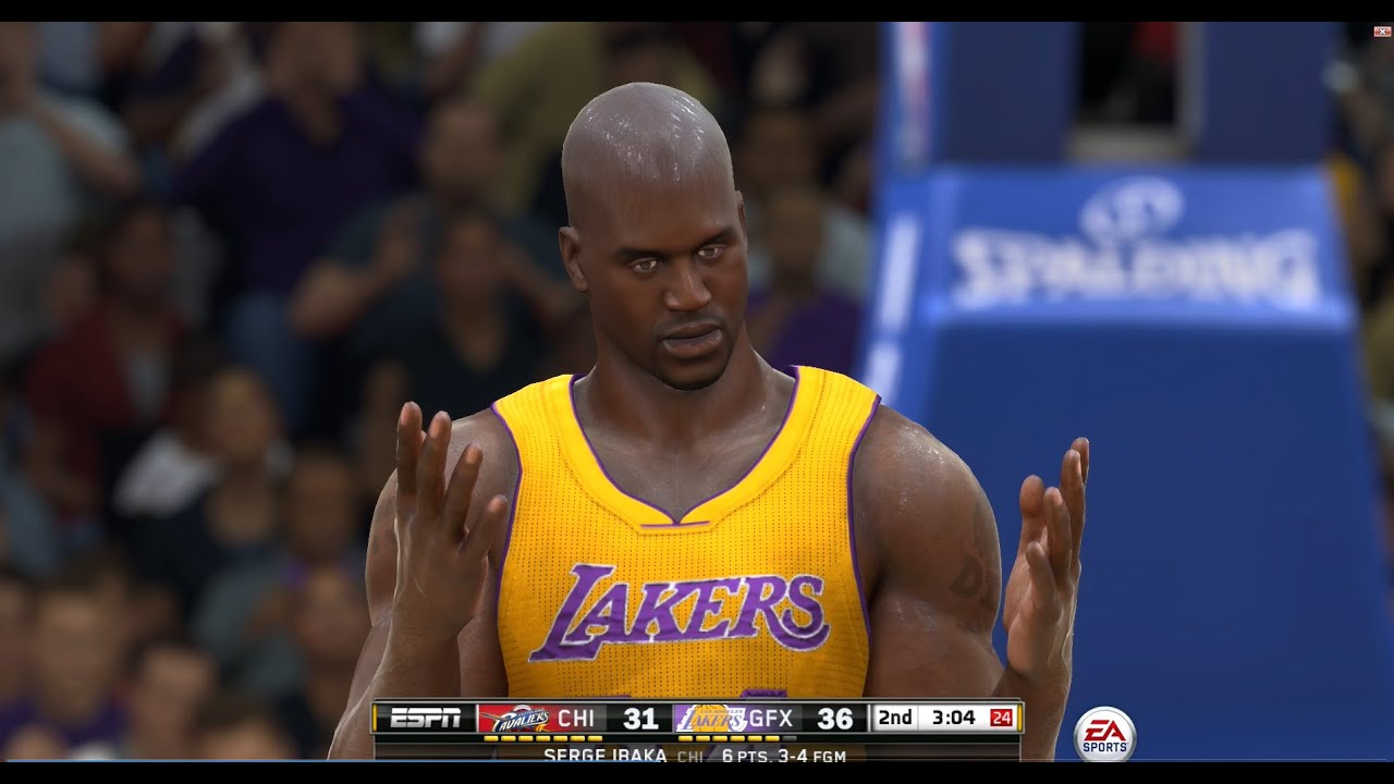 nba live 15 lut shaq showtime youtube