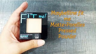Maybelline fit me Matte+Poreless Pressed Powder|Review|230 Natural Buff|