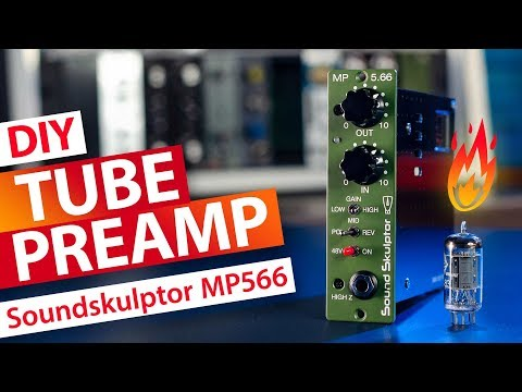 DIY Tube Mic Preamp API 500 Format - Soundskulptor MP566 - YouTube
