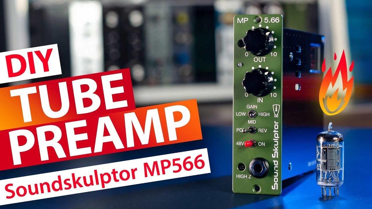DIY Tube Mic Preamp API 500 Format - Soundskulptor MP566