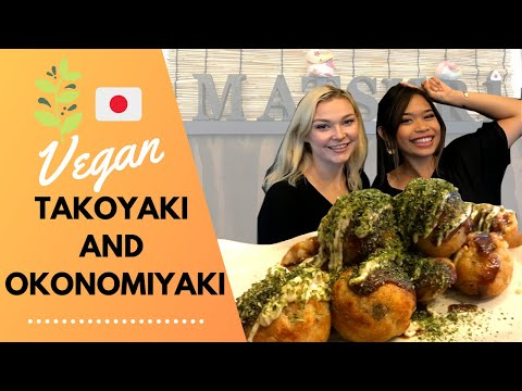 VEGAN TAKOYAKI and OKONOMIYAKI in OSAKA | Fully Halal Restaurant!
