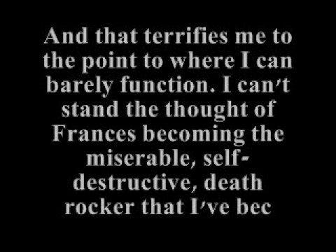 Kurt Cobain's Last Words.......so sad