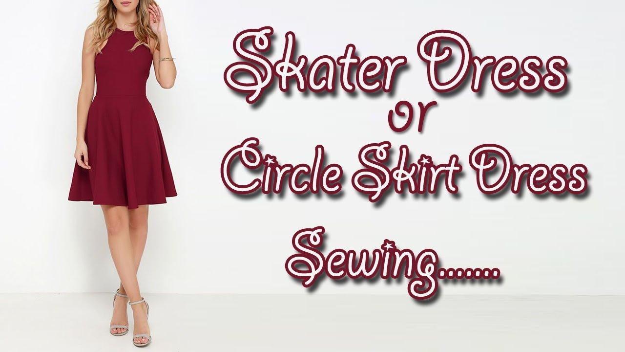 Skater Dress   Circle Skirt Dress Sewing - YouTube ec26698c0