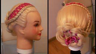 Ободок из бусин Вышивка по волосам Видео урок