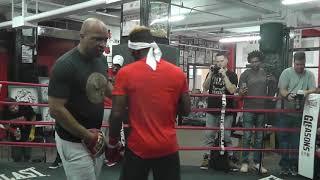 Hard Hitting JERMELL CHARLO Killing The Mitts! esnews boxing