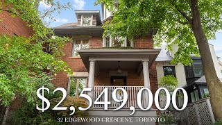 2549000 - Highly Sought Home  N North Rosedale - 32 Edgewood Crescent Toronto