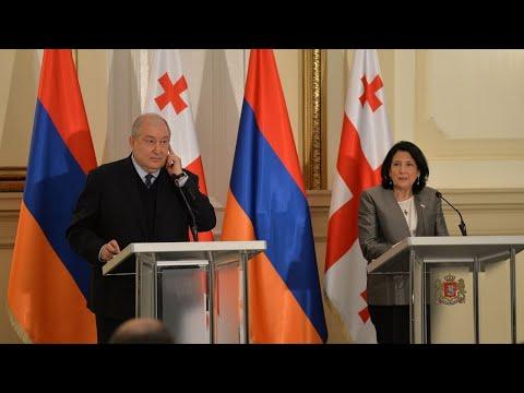 Президенты Армении и Грузии обсуждают текущую политическую ситуацию в двух странах