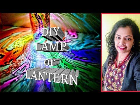 Colourful lights diy lantern / Diwali decorations ideas / How to make lamp at home/ kandil making