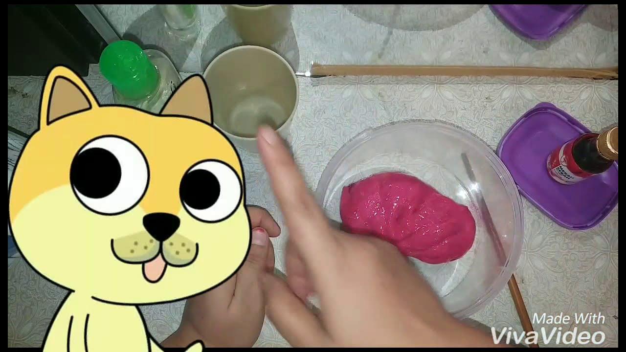 Cara membuat slime supaya tidak melekit - YouTube