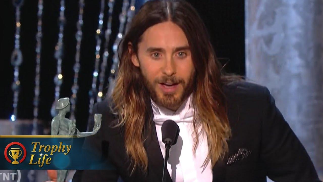 Jared Leto Thanks Hottest Date at 2014 SAG Awards - YouTube