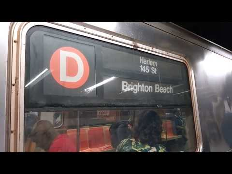 IND Sixth Avenue Line: R68A (D) Roll Sign on a Harlem-bound B Express@Broadway-Lafayette Street!