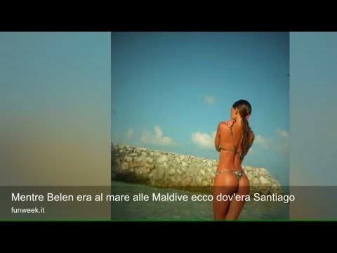 Mentre Belen era al mare alle Maldive ecco dov'era Santiago