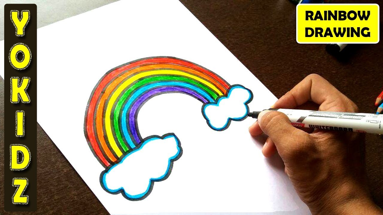 How To Draw Rainbow And Colour It Youtube