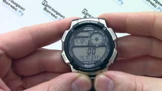 Годинник Casio Illuminator AE-1000WD-1A - Інструкція, як налаштувати від PresidentWatches.Ru