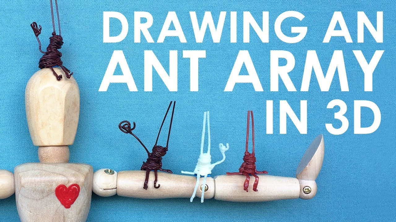 DRAWING A 3D ANT ARMY (Using Scribbler 3D Pens!)