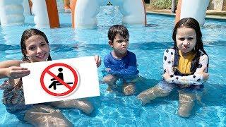 REGRAS DE CONDUTA no Parque Aquático para CRIANÇAS Rules of Condut for Children