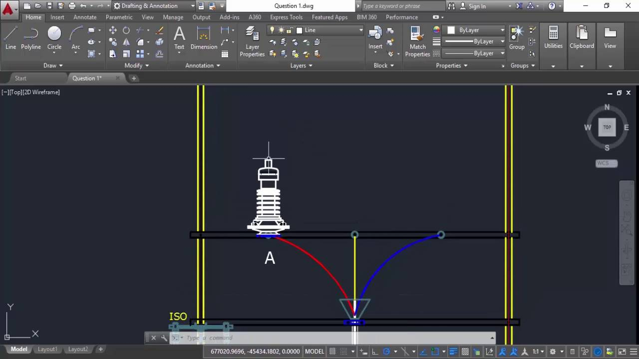 AutoCAD 2016 Certification Exam — Sample Question
