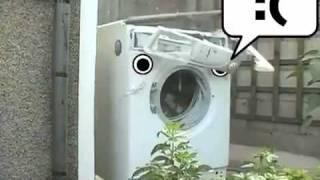 Washing Machine eats brick 4GIFs.com