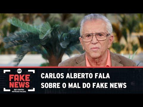SBT Contra Notícias Falsas: Vítima no passado, Carlos Alberto comenta sobre o mal de mentiras