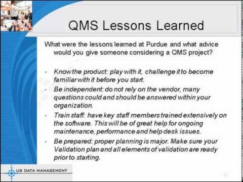A QMS Success Story Purdue Pharma - SOLABS - Part 2