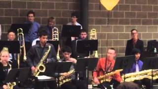 Joe Browning and the WWSHS Jazz band
