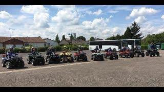 RANDO avec 10 quads dans la Marne  parti 1/2