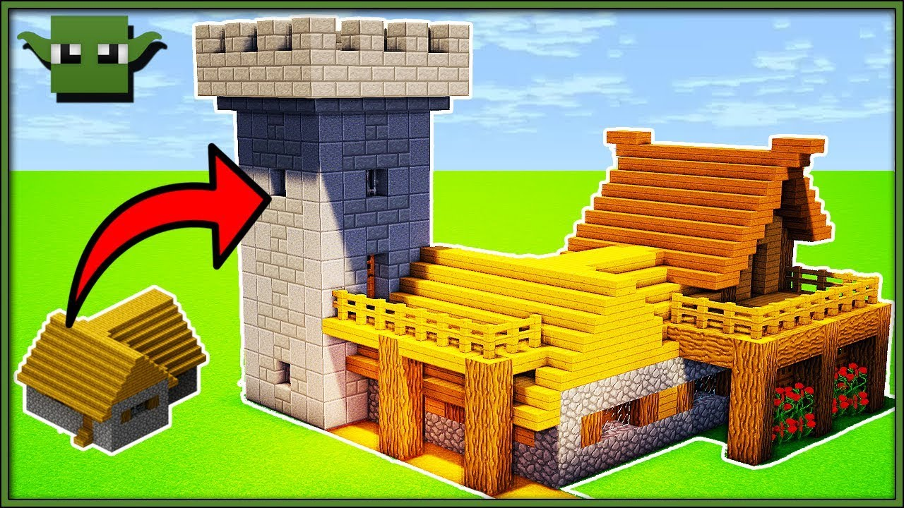 How To Transform A Minecraft Village House L Shaped Youtube