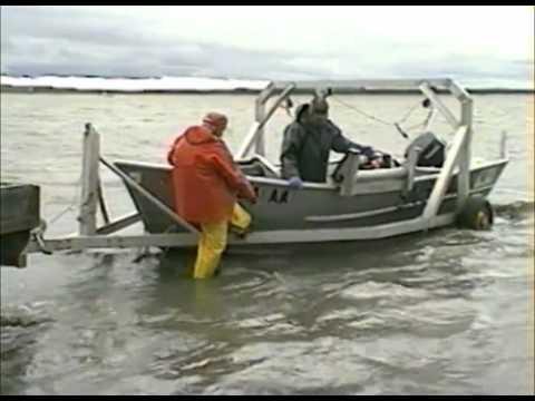 Set Net Salmon Fishing from Skiff - Coffee Point near Egegik, Alaska