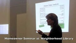 Options for Under Water Mortgages: Homeowner Seminars