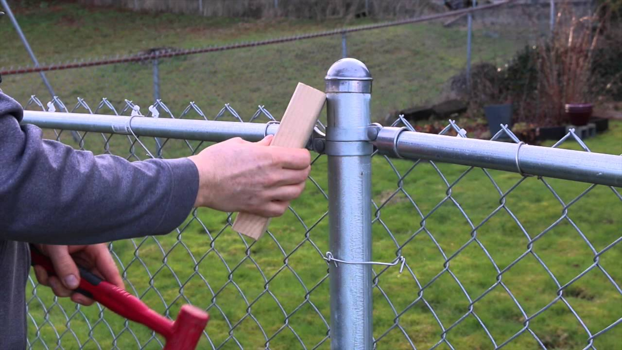 How To Remove Stuck Cap On Your Chain Link Fence You