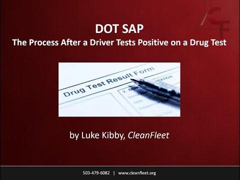Webinar: DOT SAP - The Process After a Driver Tests Positive on a Drug Test