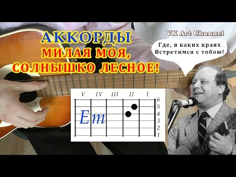Аккорды Милая моя Визбор разбор на гитаре видео урок.