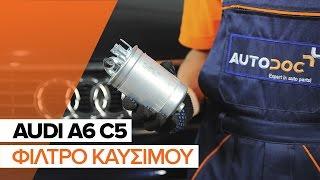 Αποσύνδεση Φιλτρο πετρελαιου AUDI - Οδηγός βίντεο