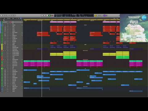 Future Bass Logic Pro X Template Paper Skies