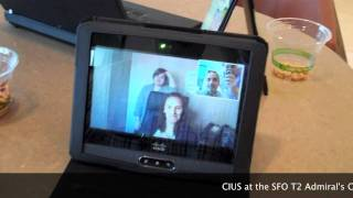 cisco telepresence cius to ex90 call from the sfo admiral s club