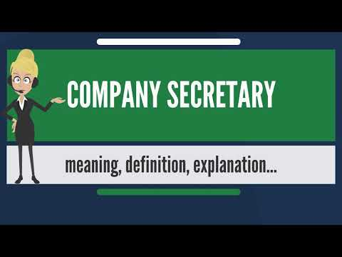 What is COMPANY SECRETARY? What does COMPANY SECRETARY mean? COMPANY SECRETARY meaning