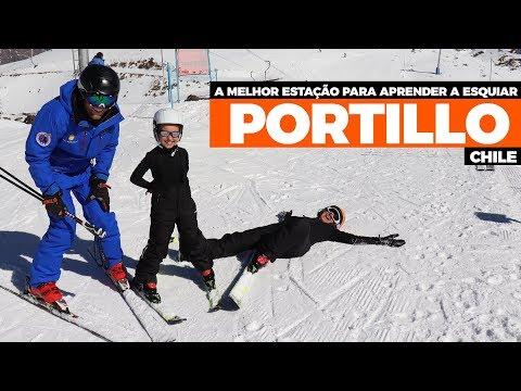 NEVE NO CHILE - PORTILLO APRENDA A ESQUIAR NA MELHOR ESTAÇÃO