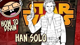 How to Draw HAN SOLO (Star Wars) | Narrated Easy Step-by-Step Tutorial