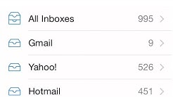 How to view All Inboxes - all in one - gmail yahoo hotmail Mail app iPhone iPad iPod