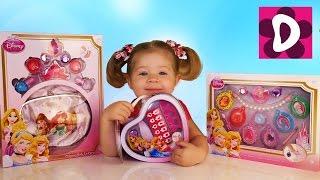 ✿ Чудо Подарки для Детей Детская Косметика Принцессы Диснея Disney Princess cosmetics MakeUp set(Диана с мамой открывает три набора с детской косметикой из США принцессы Диснея. В наборах были блестки,..., 2016-03-24T08:30:23.000Z)