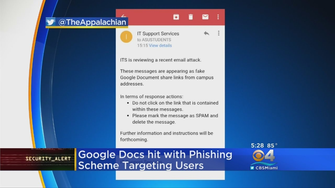 Phishing Alert! Don't Open Office 365 Update Through Google Docs ...