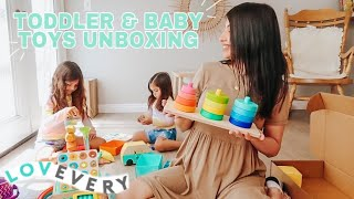 LOVEVERY TODDLER PLAY KITS & BABY PLAY GYM UNBOXING