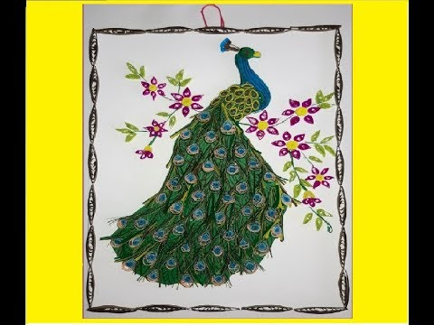 Paper Quilling Peacock Wall Art